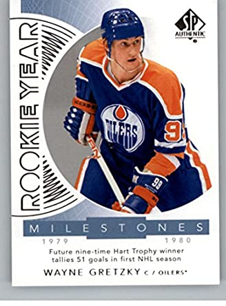 8269e6e52 2017-18 SP Authentic Rookie Year Milestones  RYM-WG Wayne Gretzky Edmonton  Oilers