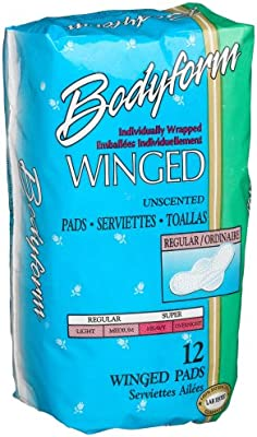 Bodyform Regular Winged Maxi Pads, 12-Count Package (Pack of 36)