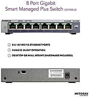 NEW Lot of 4 NetGear GS108-400NAS  8 Port Gigabit Switch