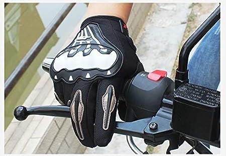 XuBa Men 3D Motorcycle Mesh Gloves Full Finger Ergonomic Motorbike Motocross Riding Protection Glove for Men and Women Outdoor Cycling,Black XL