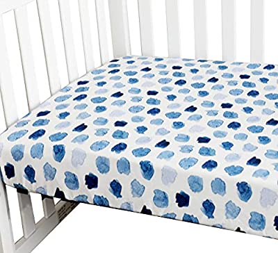Sahaler Baby Floral Fitted Crib Sheet for Boy and Girl Toddler Bed Mattresses fits Standard Crib Mattress 28x52