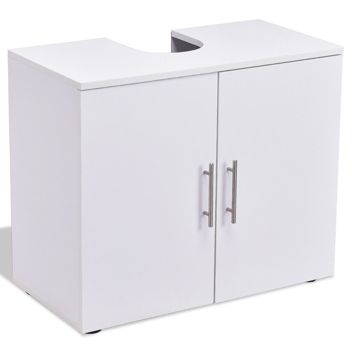 Storage Vanity Cabinet Bathroom Non Pedestal Under Sink Wall Mounted White Wood Furniture MD Group by MD Group (Image #1)