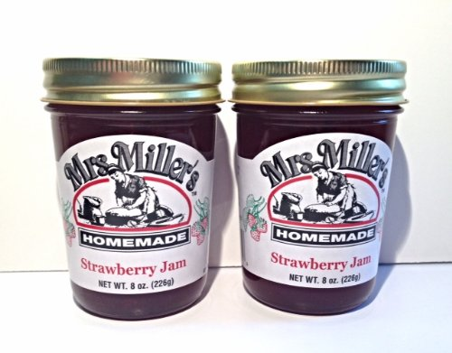 Mrs. Miller's Amish Homemade Strawberry Jam, 8 oz - Pack of 2