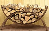 The Woodhaven 3 Foot Brown Crescent Firewood Rack