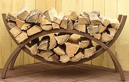 The Woodhaven 3 Foot Brown Crescent Firewood (Firewood Rack 3 Foot)