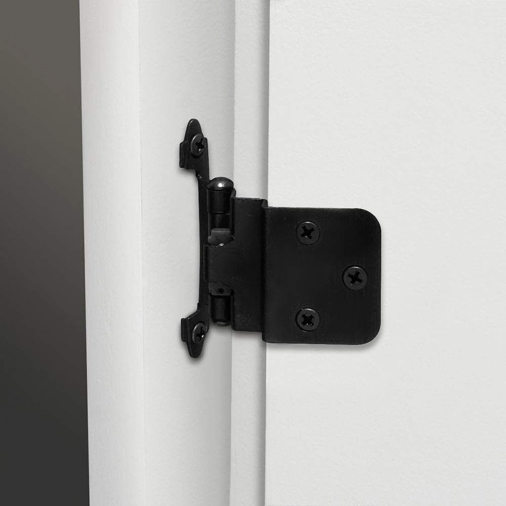 SCH38BK 3/8'' Self Closing Black Kitchen Cabinet Hinges ...