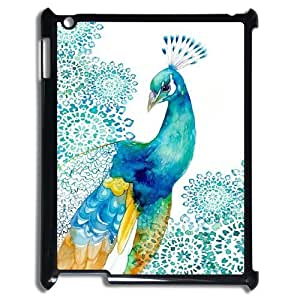 K-G-X Phone case For Ipad 2/3/4 Case Case-Pattern-7 Beautiful Peacock Protective Back Case