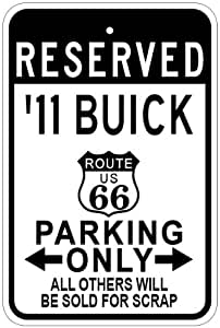 1911 11 BUICK Route 66 Parking Sign - 10 x 14 Inches