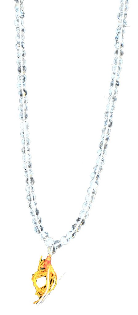 Bonyak Jewelry 18 Inch Rhodium Plated Necklace w// 4mm Green May Birth Month Stone Beads and 5-Way Charm