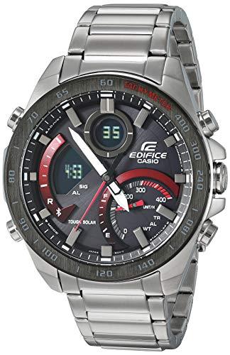 Casio Men's Edifice Quartz Watch with Stainless-Steel Strap, Silver, 21 (Model: ECB-900DB-1ACF) Casio Edifice World Time Watch