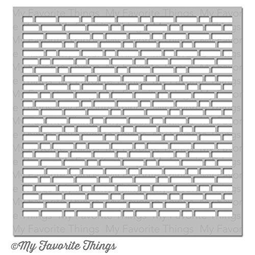 English Brick Wall My Favorite Things MFT-ST-82 Mixables Stencil 6 x 6 in