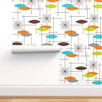 Spoonflower Orange Wallpaper