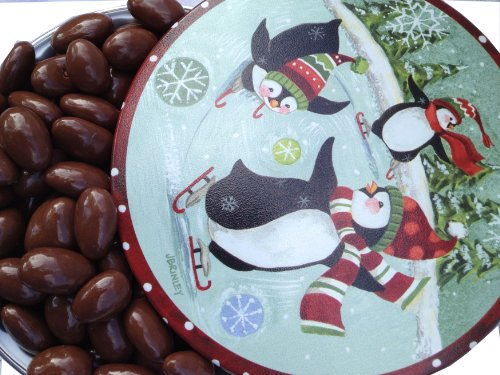 UPC 608819991955, Gourmet Dark Chocolate Covered Almonds in a Classic Penguin Tin -- Great Gift by Nut Roaster's Reserve
