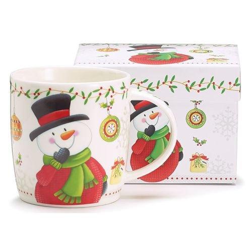 Christmas Snowman White Coffee Tea Mug