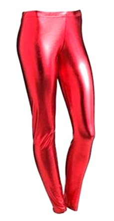 fe65c4d4f11f1 New Girls Kids Plain Metallic Hot Wet Look Foil Shiny Party Disco Pants  Leggings (5
