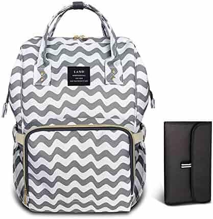 03e0b0d6d2 HEYI Diaper Bag Backpack Travel Large Spacious Tote Shoulder Bag Organizer