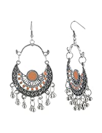 Efulgenz Indian Vintage Retro Ethnic Gypsy Oxidized Boho Dangle Drop Hook Earrings for Girls and Women Love Gift