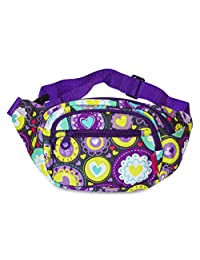 Ever Moda Fanny Pack Print Collection - Purple Multi-color Hearts
