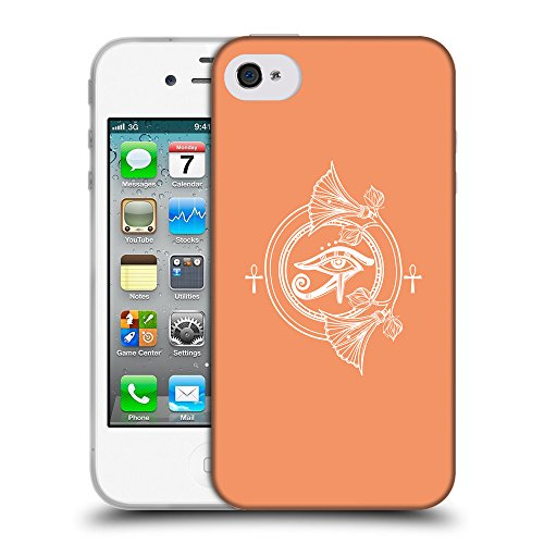 GoGoMobile Coque de Protection TPU Silicone Case pour // Q09870607 Religion 27 Mandarine // Apple iPhone 4 4S 4G