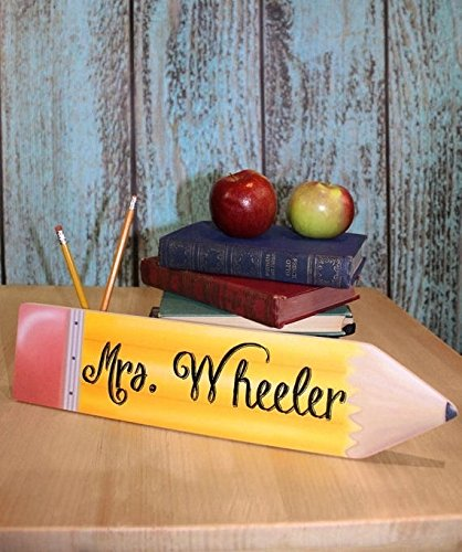amazon com teacher pencil personalized desk plaque teacher end of