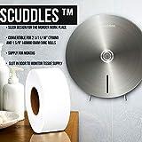 Scuddles Paper Towel Dispenser - Jumbo Toilet Paper Dispenser Stainless Steel Wall Mount - Marathon Dispenser Commercial Holder Tissue Paper with Key Lock for 9 Inch Rolls
