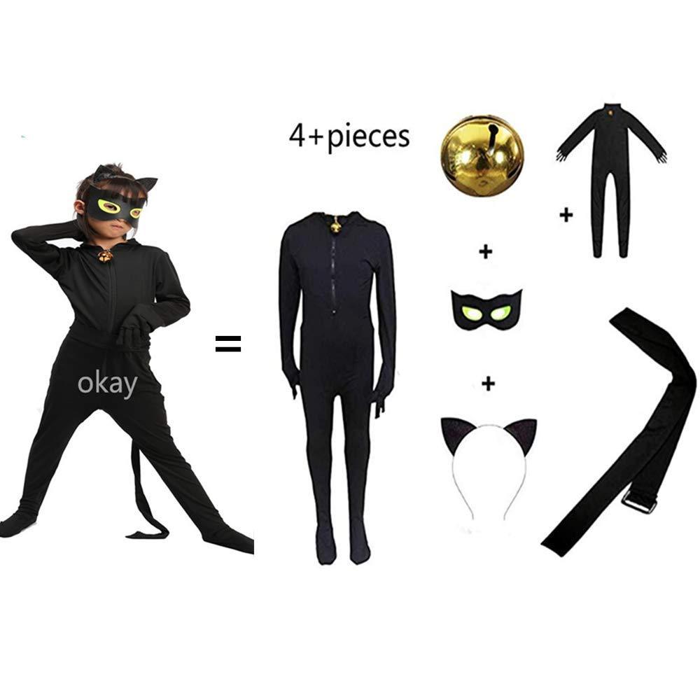 okay Disfraz de Gato Negro para niños y niñas, Disfraz de Cosplay ...