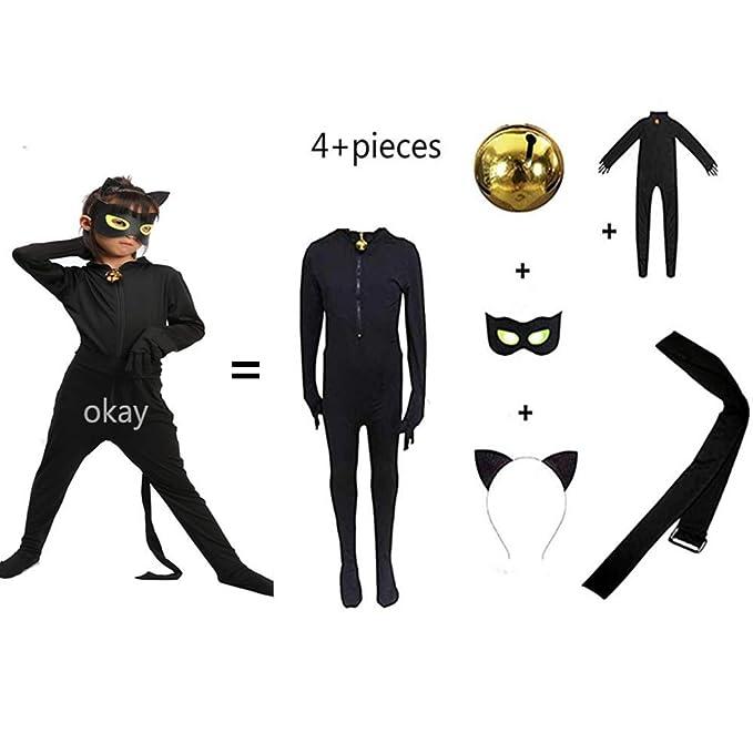 Amazon.com: Disfraz de gato negro para disfraz de Halloween ...
