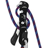 Ito Rocky Climbing Gear Ascender and Rappelling Descender Belay Devices for 9-12mm Rope for Rescue & Arborist