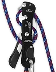 Ito Rocky Climbing Stop Descender Rappelling Anti-Panic Belay Devices for 9-12mm Rope Rescue Equipment Hand Co
