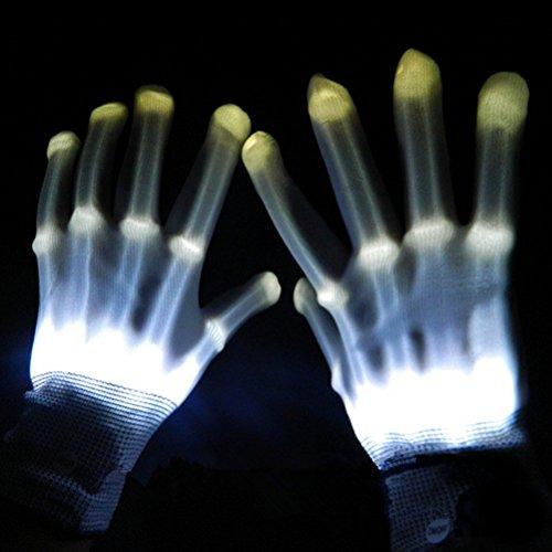 Tinksky LED Lighting Gloves Flashing Fingers Rave Gloves Colorful Gloves for Light Show Halloween Costumes 1 Pair (Light Show Halloween Costume)