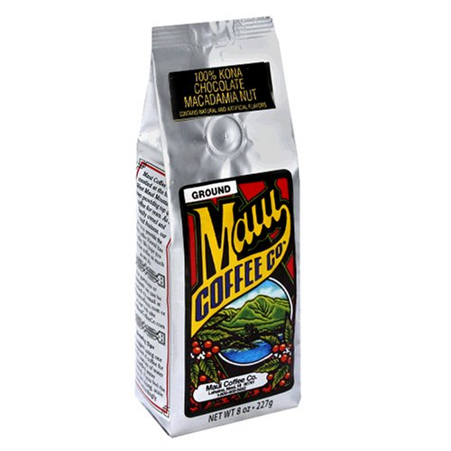 Maui Coffee Company 100% Kona Chocolate Macadamia Nut Coffee (Whole Bean), 7-Ounces (Pack of 2)