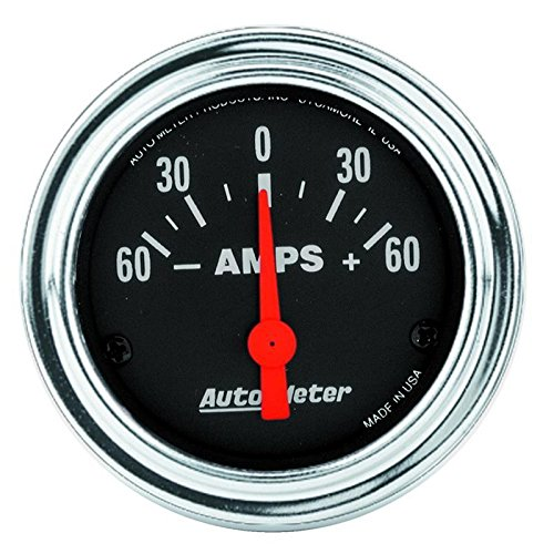(Autometer Traditional Chrome 2 1/16 Ammeter Gauge Universal)