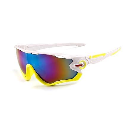Asien Gafas de Sol Deportivas Gafas de Ciclismo de protección UV400 con 5 Lentes Intercambiables para Ciclismo, béisbol, Pesca, esquí, Golf Lente de ...