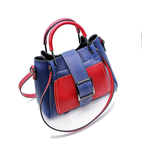 Multi Five Diagonal Gxycp Shoulder × 27cm function Blue Fashion 20cm Bag Pu Styles Fqxwx4gI