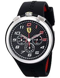 Ferrari Men's 0830100 Ready Set Go Analog Display Quartz Black Watch