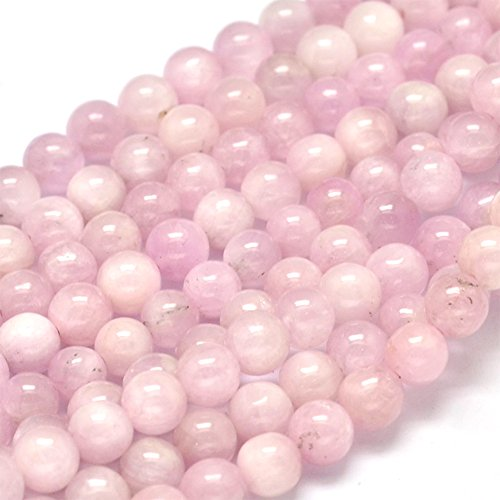 NBEADS 1 Strand 72pcs Grade A Natural Kunzite Precious Gemstone Loose Beads, 5mm Round Smooth Charm Beads for Jewelry Making, 1 Strand 15.5""
