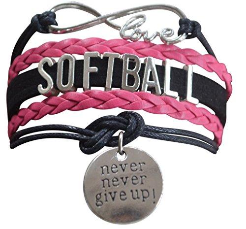 Softball Bracelet- Girls Softball Jewelry -Softball Gift- Perfect Softball Player, Team and Coaches Gifts