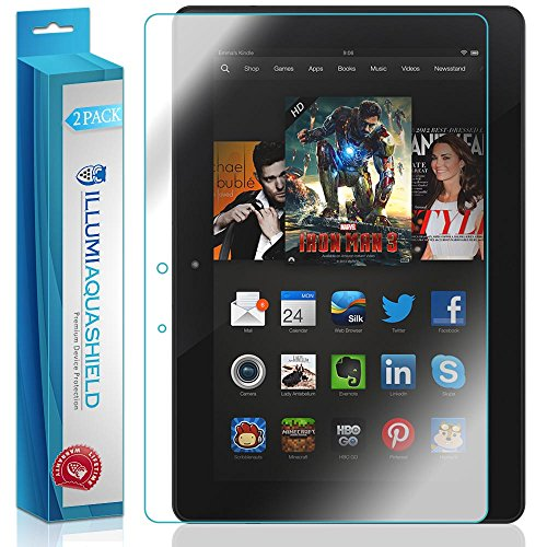 ILLUMI AquaShield Screen Protector Compatible with Amazon Kindle Fire HDX 8.9 inch (2-Pack) No-Bubble High Definition Clear Flexible TPU Film