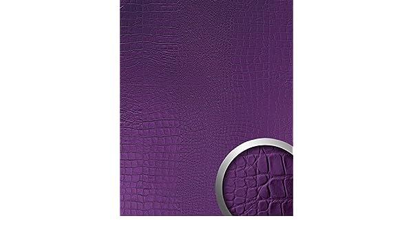 Panel decorativo autoadhesivo diseño piel de cocodrilo WallFace 16415 CROCO NOVA Con relieve color morado 2,60 m2: Amazon.es: Bricolaje y herramientas