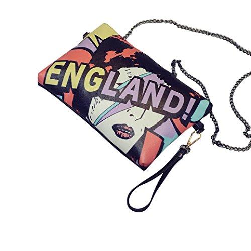 Transer Polyester Handbags & Single Shoulder Bags Women Zipper Bag Girls Hand Bag - Bolso bandolera  unisex adulto Mujer Hombre Niños unisex Niños, Image B (multicolor) - ZHY60831986 Image C