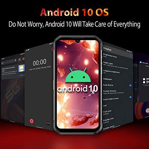 Ulefone Armor 11 5G Rugged Phones Unlocked, IR Night Vision Camera 8GB 256GB Waterproof Smartphones, 48MP Penta Camera, Android 10, 6.1 inch FHD, NFC, 5200mAh QI 10W Wireless Charging, Global Version