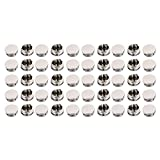 uxcell Furniture Plastic Round Flush Mount Cable Connector Hole Covers 28mm Dia 50pcs