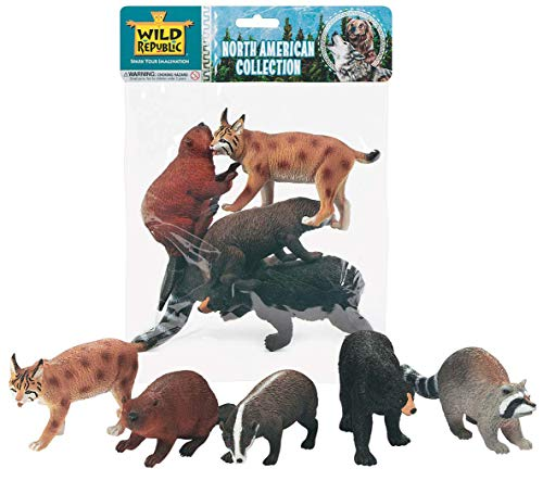 Wild Republic Polybag-North American Animal Collection 5 Pieces