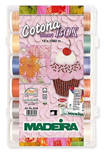 Madeira 80369350 SmartBox Cotona 50 18 Spool Set, 1100 yd by Madeira