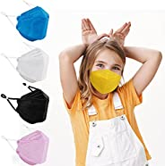 KF94 Disposable Face Mask for Kids, Colored Mask for Boys Girls with Adjustable Ear Loop, Kid Sized Small Mask