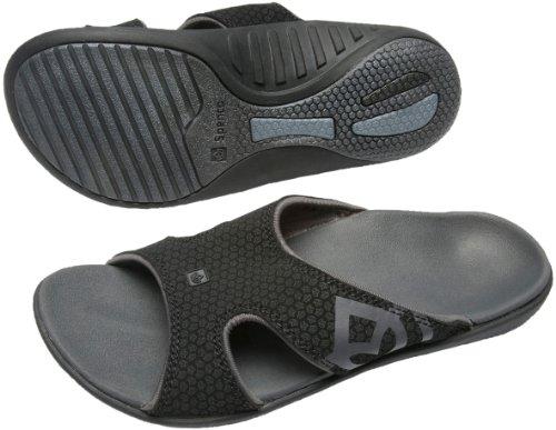 Spenco Polysorb Total Support Kholo Sandals, Black/Black, Women's 8
