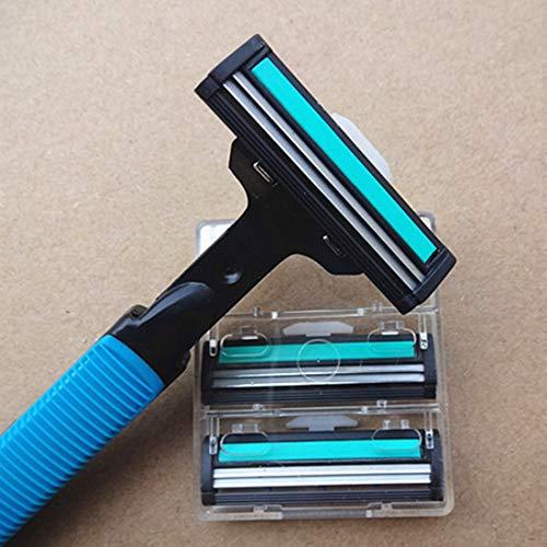 Men's razor blades Sharp shave blades Durable Double layer blades Manual Shaving razor Blade Tool