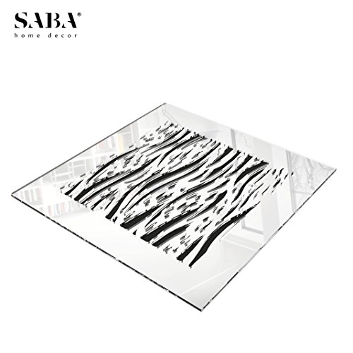 SABA Home Decor 14'' x 14'' Duct Opening (17'' x 17'' Overall) FiberGlass Decorative Grille Vent Return Register Easy Air Flow Mirror Finish Cover For Walls and Ceilings (not for Floor use) - Waves by SABA (Image #8)