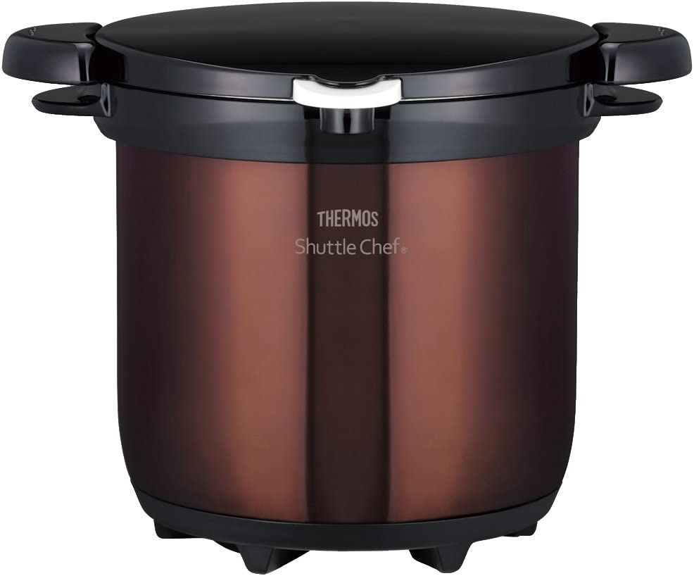 THERMOS vacuum heat insulation cooker Shatorushefu 4.5L clear Brown KBG-4500 CBW