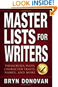 #10: Master Lists for Writers: Thesauruses, Plots, Character Traits, Names, and More